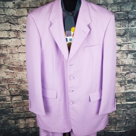 Falcone Other - Falcone 2PC Lavender Suit 42L Jacket 44x35 Pants